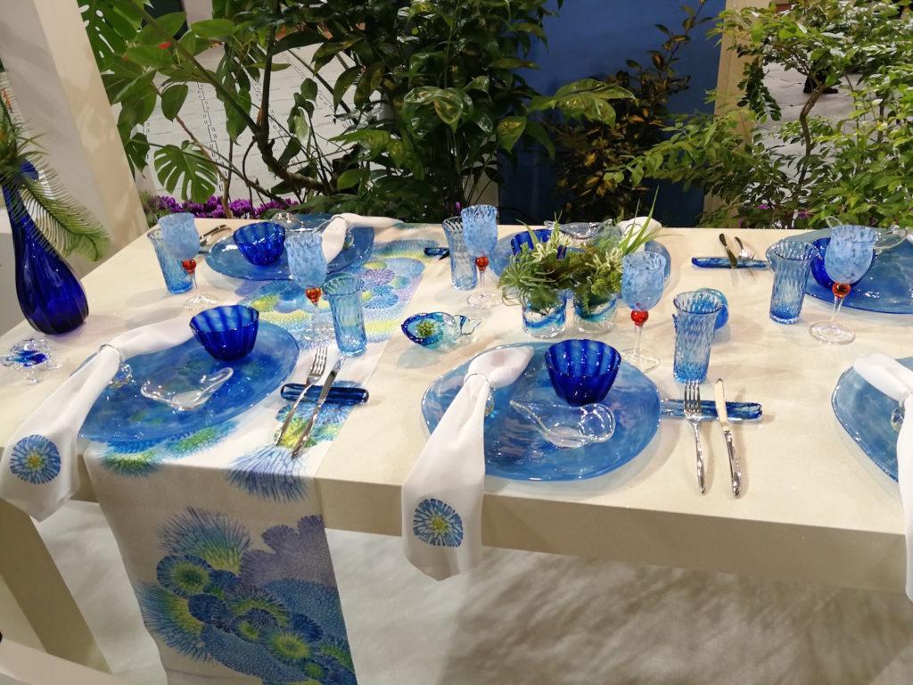 琉球ガラス テーブルコーディネート